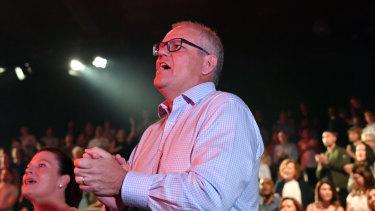 Prime Minister Scott Morrison at Horizon Church on Easter Sunday
