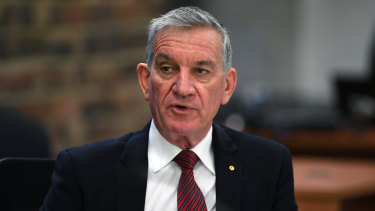 Former NSW police commissioner Andrew Scipione arrives at the ice inquiry in Sydney on Wednesday.