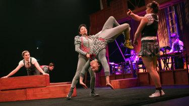 Brilliantly choreographed mayhem: The floor work in Precarious is a joy.