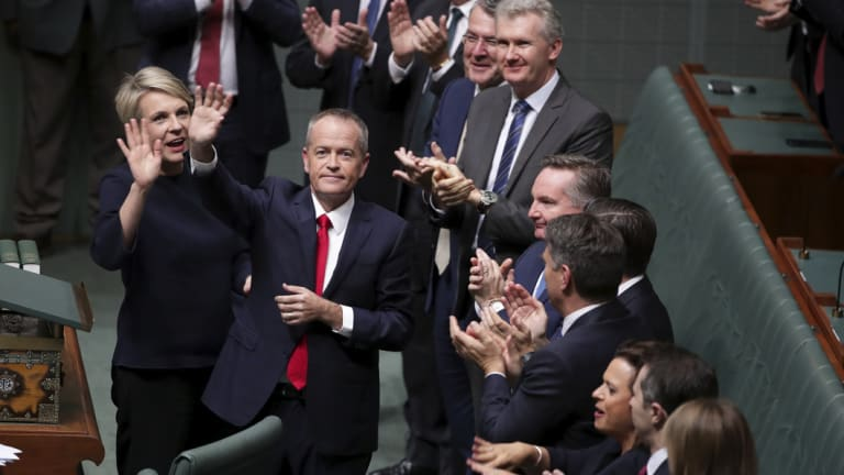 Bill Shorten after delivering his budget-in-reply speech on Thursday night.