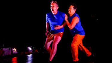 Adam Deusien and Stephen Gow in <i>Energeia</i>.