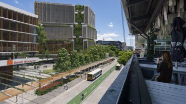 Concept images for the proposed metro station at the Brisbane Convention and Exhibition Centre, preferred by the state government to the original location at the Cultural Centre.