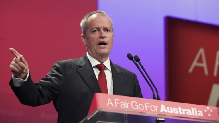 Opposition Leader Bill Shorten during the Australian Labor Party Conference in December.