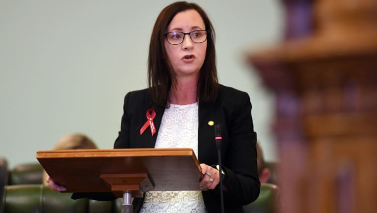Queensland Attorney-General Yvette D'Ath speaks in Parliament on Wednesday.