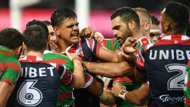 Feud for thought: There are rumblings Latrell Mitchell could replace Greg Inglis at Souths in a crosstown switch sure to ignite the old rivalry.