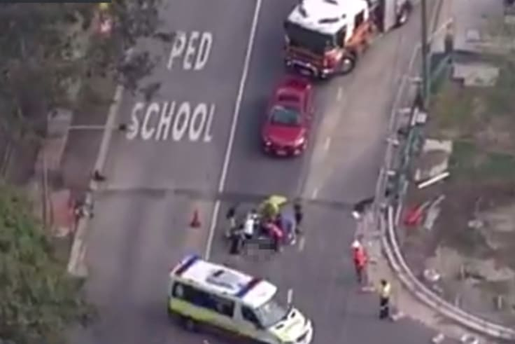 A cyclist has been killed in a traffic accident at Indooroopilly.
