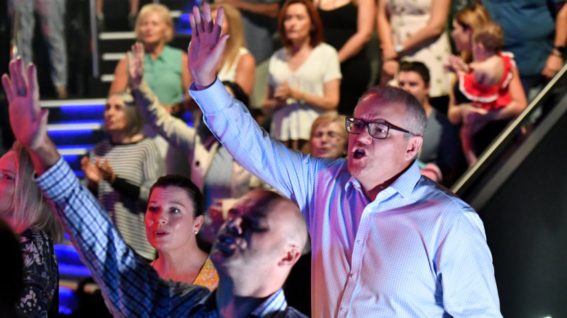 Morrison and Shorten both preach faith and family on Easter Sunday - The Sydney Morning Herald image