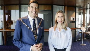 Perth Lord Mayor Basil Zempilas and Deputy Lord Mayor Sandy Anghie.