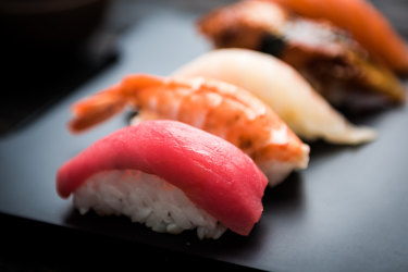 Put down the chopsticks: Nigiri sushi is generally eaten with your hands.