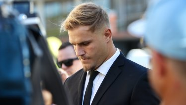 St George Illawarra Dragons player Jack de Belin has pleaded not guilty to sexual assault.
