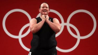 Complex story: Transgender weightlifter Laurel Hubbard.
