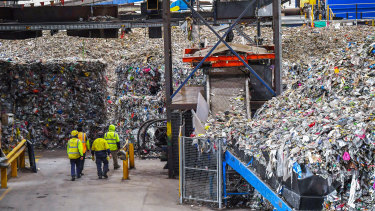 The clean-up at SKM's Laverton North plant last month.