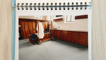 The sacristry at St Patrick's, the room where Pell abused the boys.