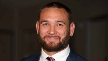 Good outcome: Jared Waerea-Hargreaves leaves following a judiciary hearing at NRL Rugby League Central.