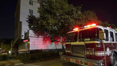 A firetruck was called to the Chinese Consulate in Houston after reports of a fire at the consulate. Witnesses said that people were burning paper in what appeared to be trash cans, according to police.