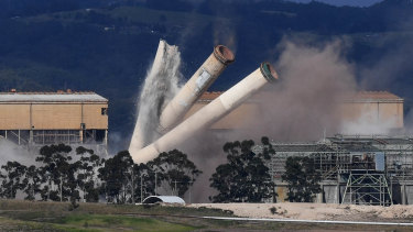 The demolition of the Hazelwood power station in May.