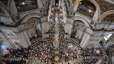 Inside St Paul's Cathedral in London in 2016.