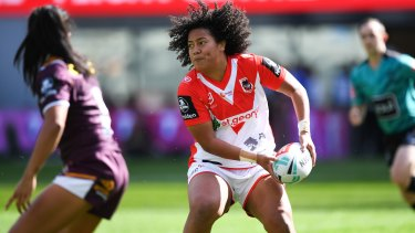 Dragons forward Teuila Fotu-Moala, who was suspended for a crusher tackle.