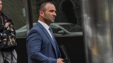 Raman Shaqiri at court in 2018.