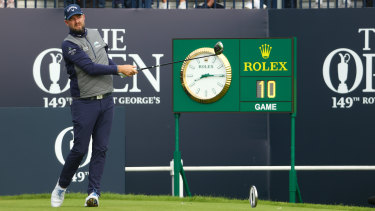 Marc Leishman played well from tee to green at Sandwich but struggled with his putter.