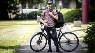 """""""You are risking your life every day you work"""": food delivery rider Alex Roxborough."""