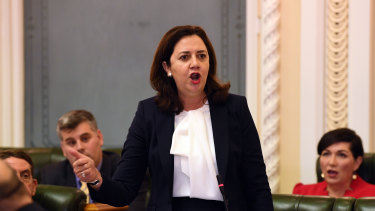Premier Annastacia Palaszczuk has slammed the decision to keep the NRL grand final in Sydney as the city's two major rectangular stadiums are renovated.