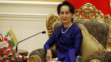 Myanmar State Councillor and de facto leader Aung San Suu Kyi.