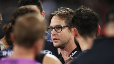 Carlton coach David Teague says the Blues are lacking confidence after another defeat.