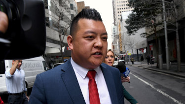 Labor's community relations director Kenrick Cheah at the ICAC hearing on Tuesday.