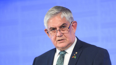 Minister for Indigenous Australians Ken Wyatt speaks at the National Press Club in Canberra on Wednesday.
