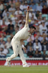 On target: Jimmy Anderson made a contribution late in the day.