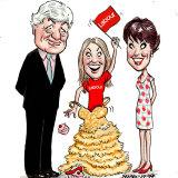 Geoffrey Robertson, Georgie Robertson and Kathy Lette.