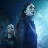 Jessica Chastain (left) as Vuk and Sophie Turner in Dark Phoenix.