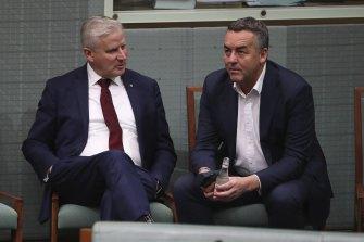 Michael McCormack and Darren Chester were both outspoken against Mr Christensen.