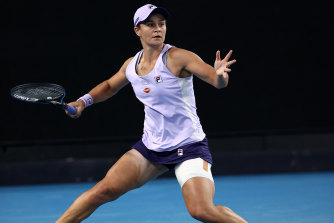Ashleigh Barty is into the fourth round.