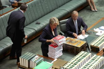 Labor's Tanya Plibersek tables a petition from the March 4 Justice protest calling for better handling of sexual harassment and assault claims.