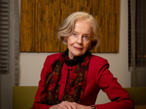 Former governor-general Quentin Bryce in her Queensland University of Technology office, 2020.