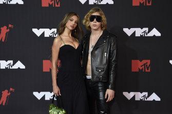The Kid Laroi with girlfriend Katarina Deme at Monday's MTV Video Music Awards in New York.