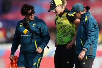 Ellyse Perry missed the T20 World Cup final due to a serious hamstring injury.