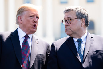 President Donald Trump and Attorney-General William Barr.