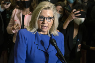 A defiant Liz Cheney made clear that she would own her banishment from leadership ranks.