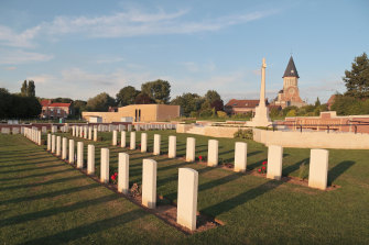 The Commonwealth War Graves Cemetery in Fromelles.