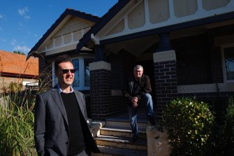 Rosebery residents James Lidis, left, and Wayne Moody fear the code risks destroying their suburb's streetscapes.