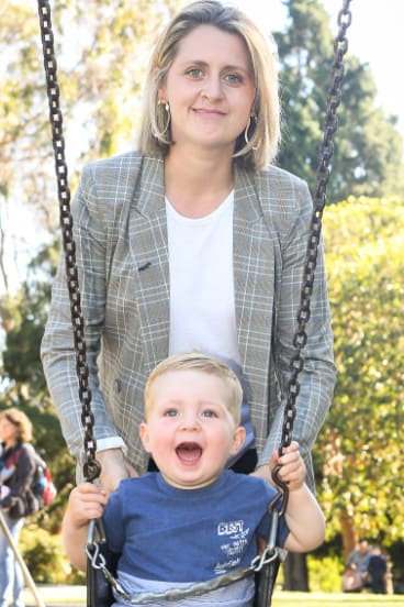 Jennifer Lele, with her son, Finn, is looking to buy a house or apartment with her husband and wants to have as high a credit score as possible.