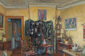 Yellow Room with Screen, night, C. 1998, by Margaret Olley.