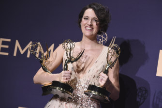 Phoebe Waller-Bridge, winner of the Emmys for outstanding lead actress in a comedy series, outstanding comedy series, and outstanding writing for a comedy series for Fleabag.