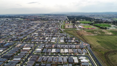 The population is booming in suburbs such as Cranbourne East
