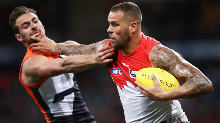 Star showing: Lance Franklin kicked five goals the last time the sides met.