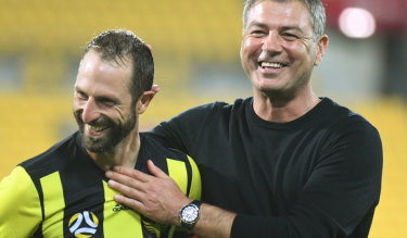 Getting the band back together:  Andrew Durante has followed his ex-Wellington coach Mark Rudan to Western United.