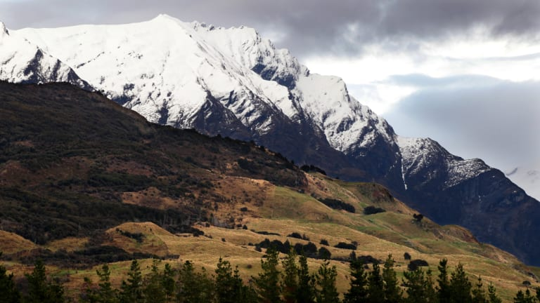 """The climber set off up the Mt Aspiring """"alone and lightly packed""""."""